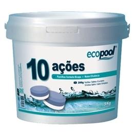 Cloro 10 Ações Tableta 200gr Bicapa 5kg Ecopool - 1670010018