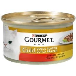 Gourmet Gold Duplo Prazer com Vaca e Frango 85gr - 1540260037
