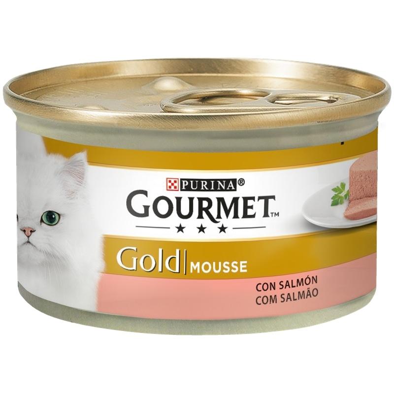 Gourmet Gold Mousse com Salmão 85gr - 1540260032