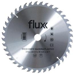 Disco Corte Madeira Plástico 185x20mm Flux - 1230150012