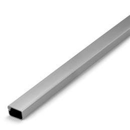 Calha Tecnica Adesiva Cinza Metalizado 16x10mm - 1330280017