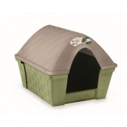 "Casota ""Happy Kennel"" Caqui/Cinza 82x68x62cm - 1040160019"