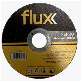 Disco Corte Ferro 115x2,0x22mm Flux - 1230140096