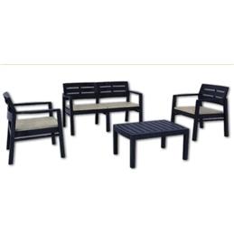 Conjunto Mesa+Cadeira+Banco Java Campilex - 1180150011